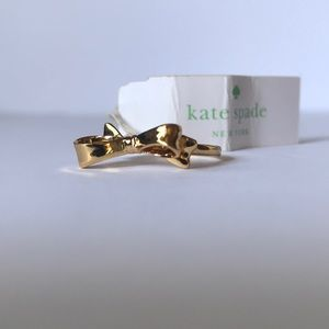 Kate Spade gold Love Notes bow ring | size 7